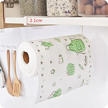 Pevor toalla de papel soporte estante de bajo armario, cocina rollo de papel toalla organizador