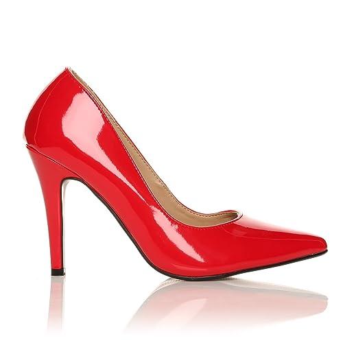 3b8cfdd0021d5 Darcy Scarpe Decolletè da Donna in Ecopelle Rosso Vernice Tacco a Spillo  Molto Alto Scarpe a