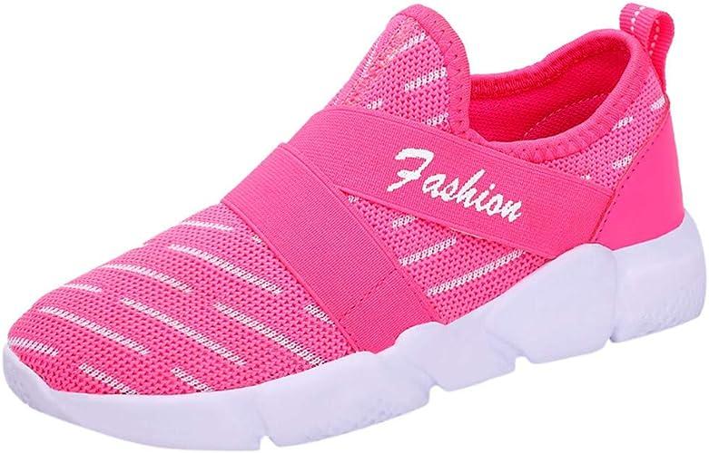 Conquro Zapatillas de Running para Unisex Niños Deporte Peso Ligero Transpirables Zapatillas Unisex-niños Malla Velcro Zapatos del Ocio Muchachas Correr Trail Fitness Sneakers Ligero: Amazon.es: Zapatos y complementos