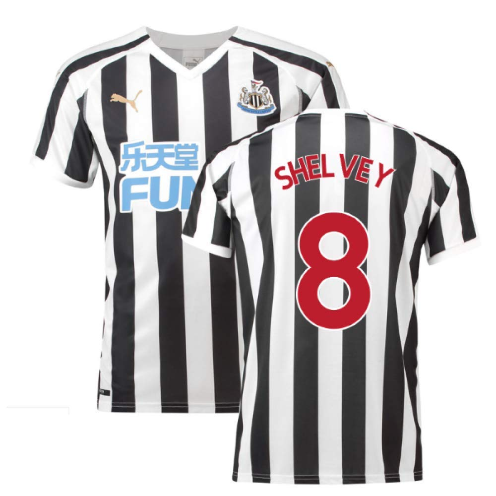 2018-2019 Newcastle Home Football Soccer T-Shirt Trikot (Jonjo Shelvey 8)