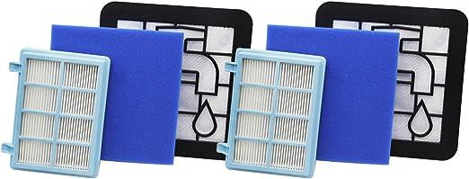 Green Label Empaque de 2 Kit de Filtros de Recambio para Aspiradoras Philips PowerPro Compact y Marathon Compact (Reemplaza a FC8010,01): Amazon.es: Hogar