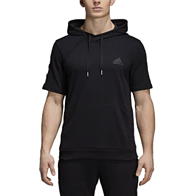 promo code 1ecb1 a25d7 Amazon.com  adidas Men s Pickup Shooter Short Sleeve Hoodie Black  Shoes