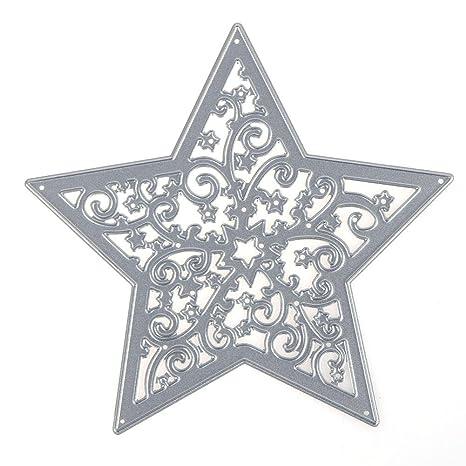 Starnearby DIY Estrella Metal Molde Scrapbooking cortador de papel troquelado troquelado