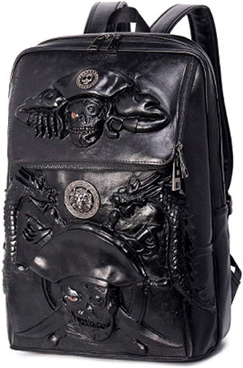 Halloween Skull Backpack 3D Pirate Captain 14Laptop Computer Handbags Knapsack For Teenager