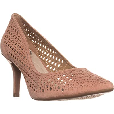 Alfani Womens Jennah Leather Pointed Toe Classic Pumps, Apricot, Size 9.5: Shoes