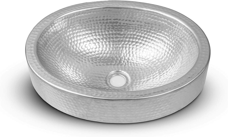 Monarch Abode Hand Hammered Silver Bathroom Sink 17 Inches Tools Home Improvement Bathroom Sinks Urbytus Com