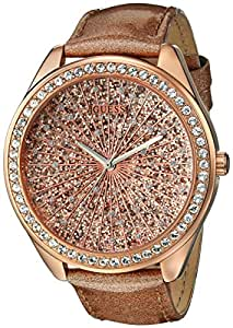 GUESS Women's U0155L1 Extra Dazzling Rose Gold-Tone Trend Watch