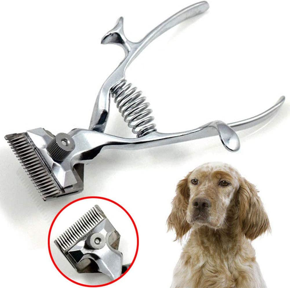 RONSHIN Ultra-Quiet Manual Hair Trimmer Pet Dog Cat Hair Shaver Grooming Clipper Comb