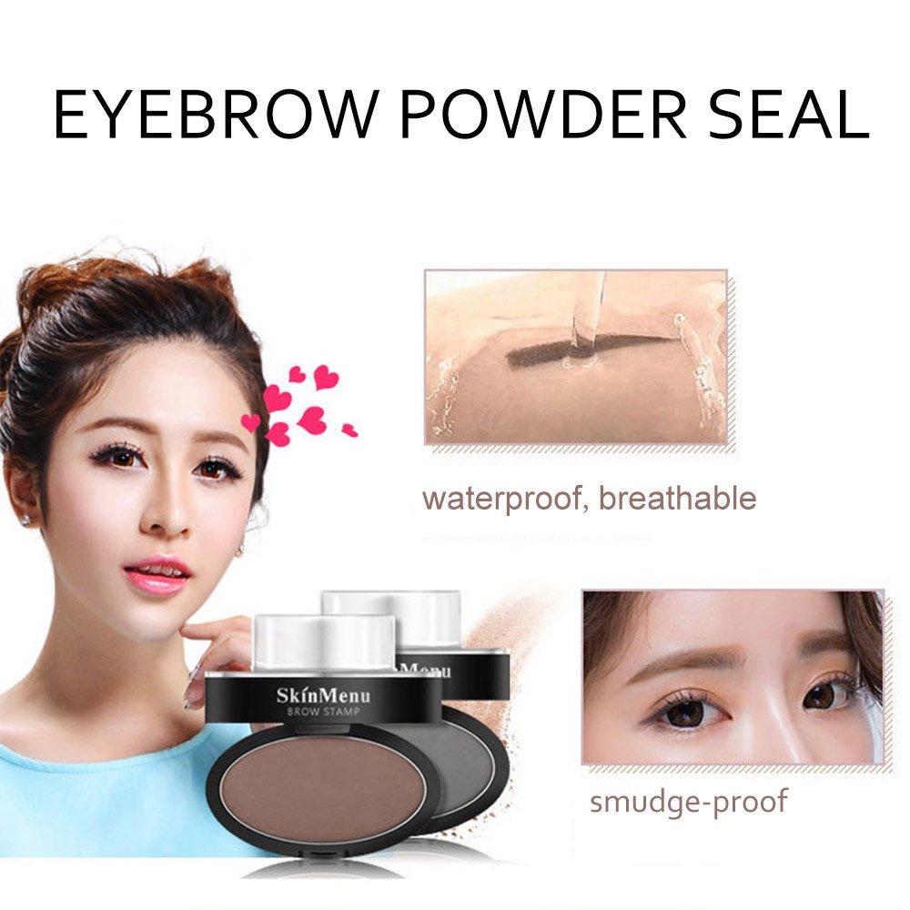 1pair Eyebrow Template Stamp Sponge Eyebrows Seal Eyebrow Powder Brow Stamp Sponge Eye Brow Lazy Puff Printed Seal Cream Beauty Essentials