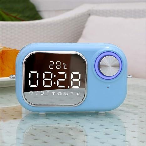 Pantalla de espejo LED Alarma doble Mini Reloj despertador ...