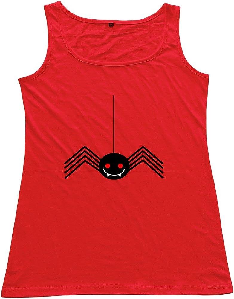 Halloween Spider Woman 100% Cotton Tanks Top