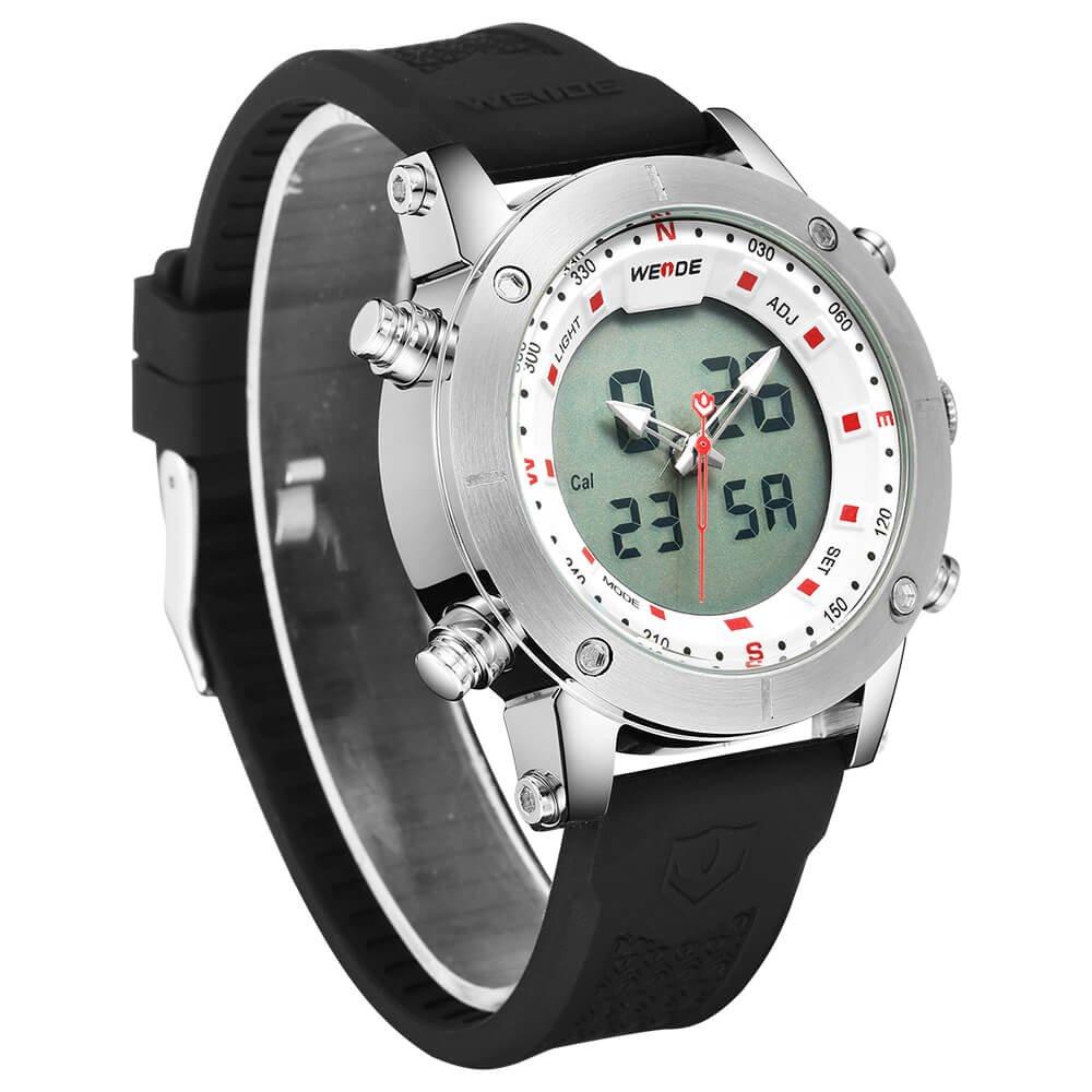 Herr- och damklockor, herr multifunktionell kvartsklocka visare digital display dubbel display casual klocka 2