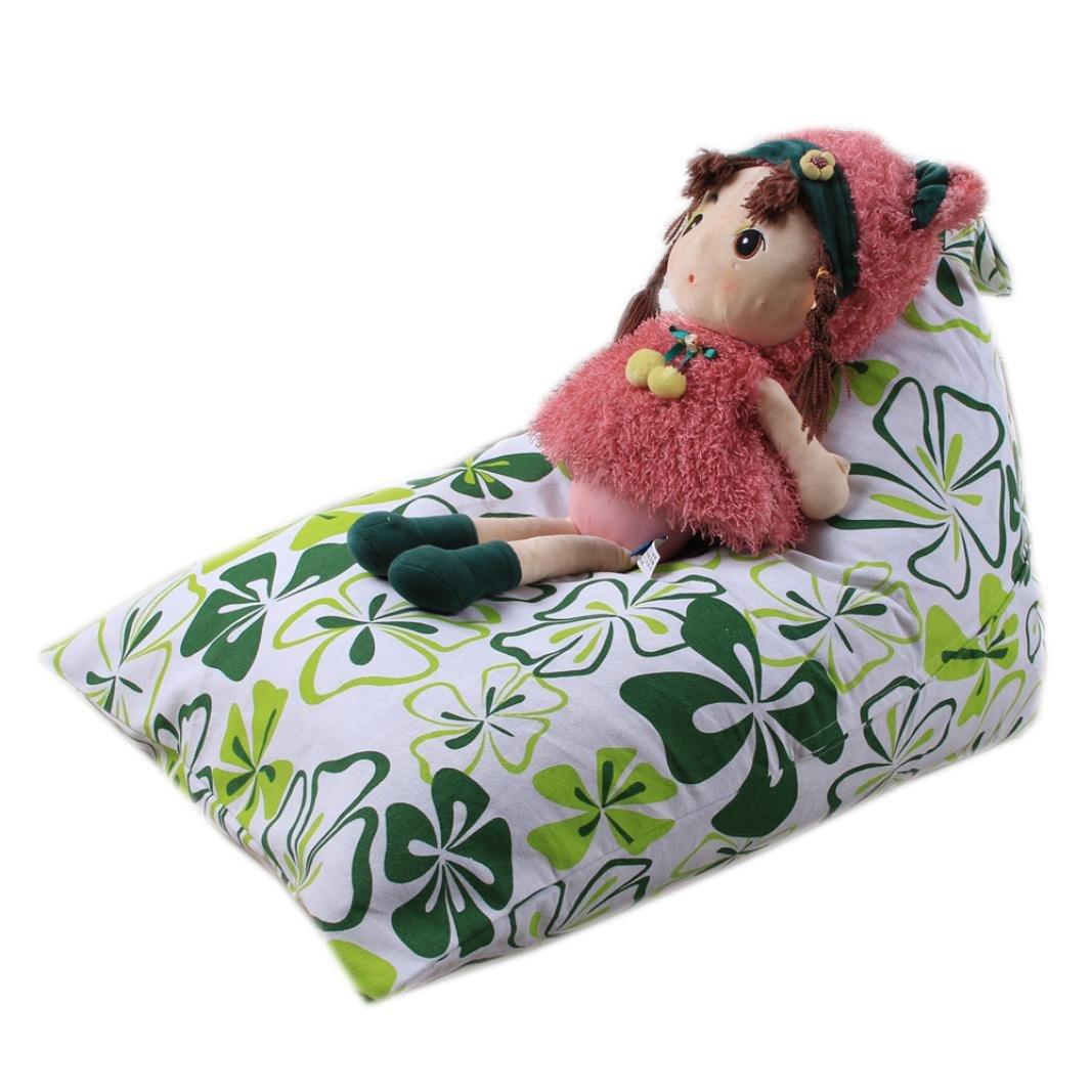 DDLBiz Kids Household Stuffed Animal Storage Bean Bag Space Saver Bags Store Blankets Pillows (M)