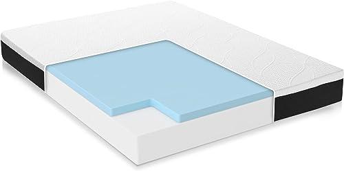 Classic Brands Cool Gel Chill Memory Foam 10-Inch Mattress | CertiPUR-US Certified | Bed-in-a-Box