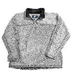 Live Oak Quarter Zip Pullover Fleece-Grey/Charcoal-small
