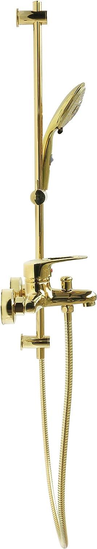 Ensemble de douche Set de douche de douche barre de douche 80 cm Support variable Barre de douche mitigeur baignoire Baignoire Robinet mitigeur