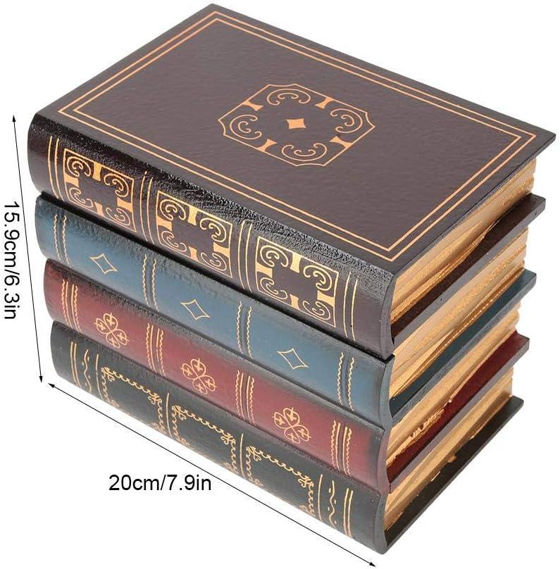 Caja de almacenamiento de forma de libro, estilo europeo Caja decorativa Caja de libro falsa Caja secreta oculta Estantería Decoración(#2): Amazon.es: Hogar