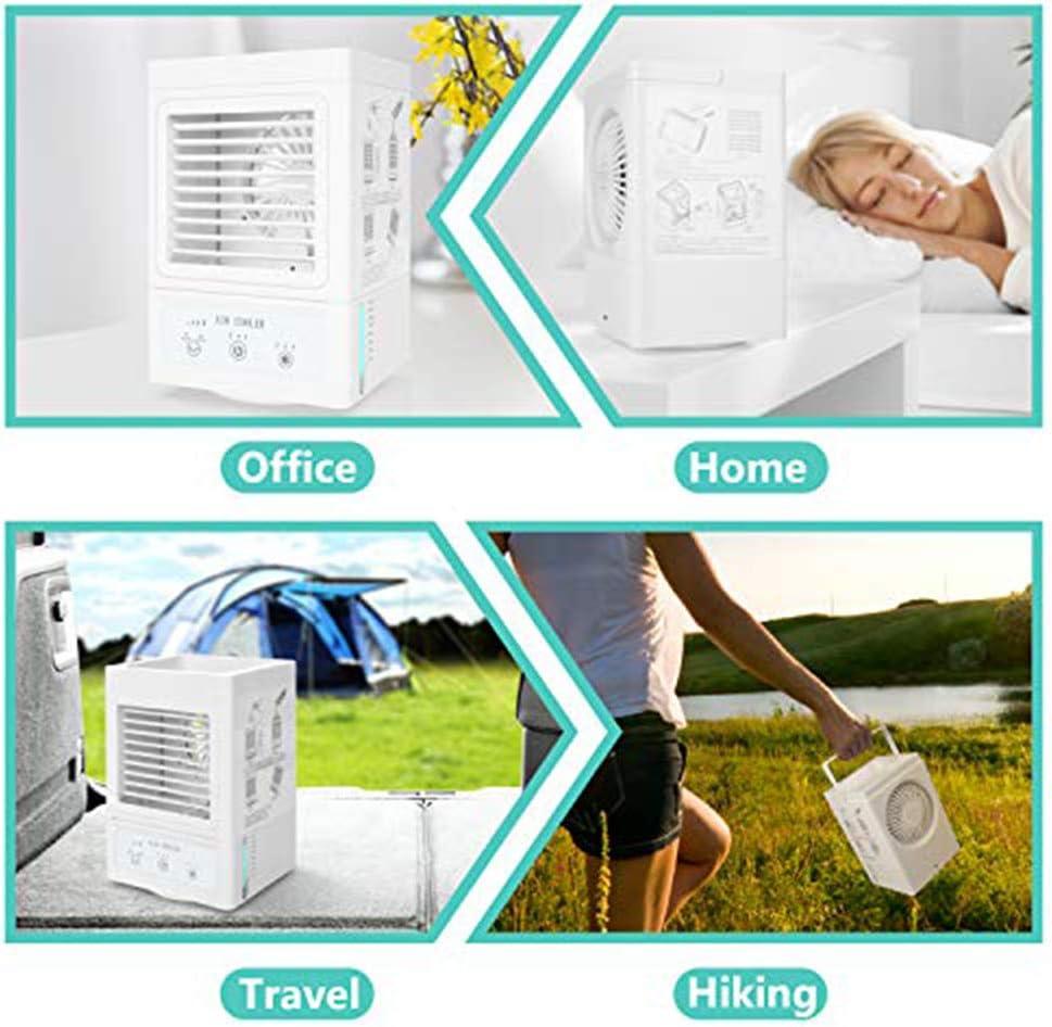Rechargeable Refroidisseur dair portable 5000 mAh blanc Refroidisseur personnel Climatiseur 120 /° 700 ml
