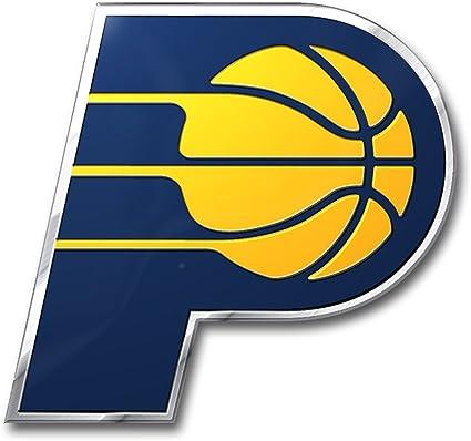NBA Indiana Pacers Die Cut Color Automobile Emblem Blue 3.25 x 3.25