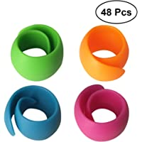 Healifty 48Pcs Peels Thread Spool Huggers para la