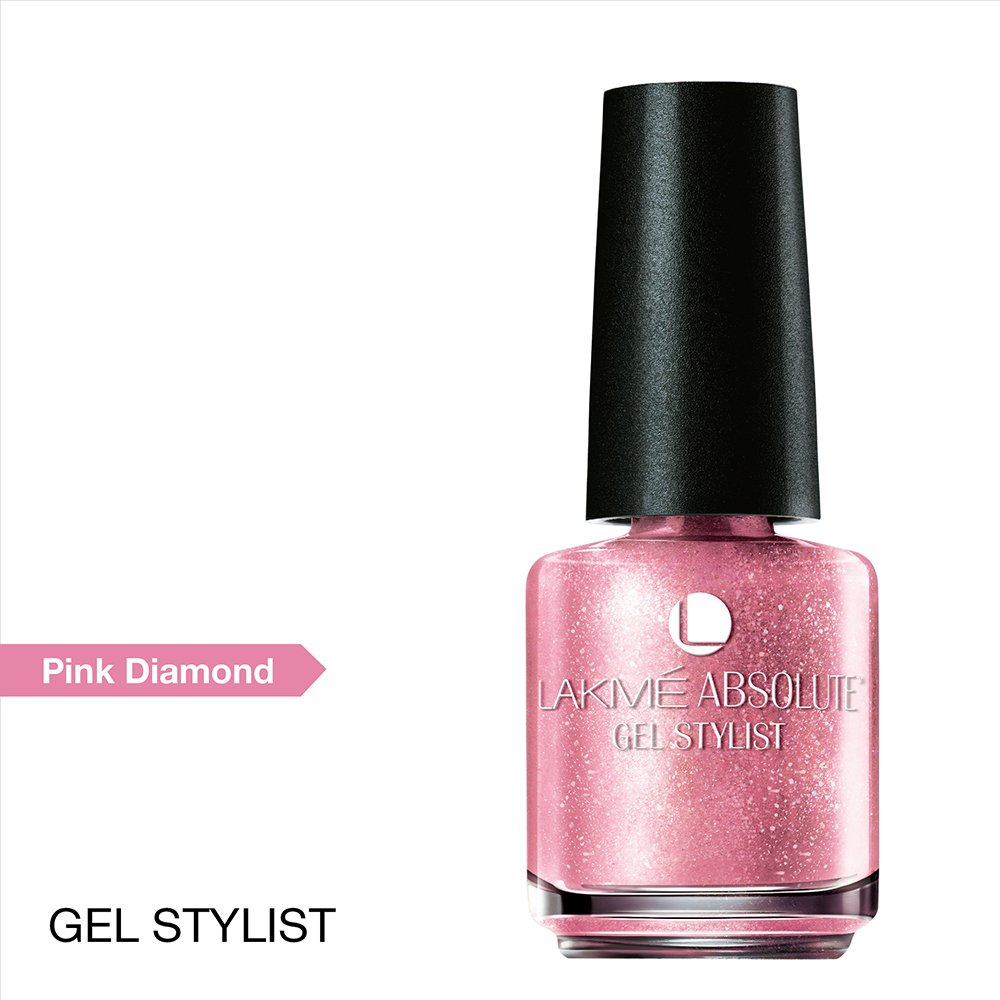 Buy Lakme Absolute Gel Stylist Nail Color, Pink Diamond, 15 ml ...