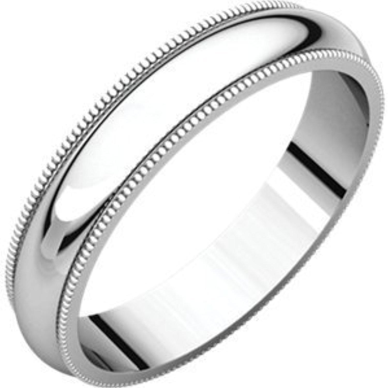 Sterling-silver Milgrain Bands