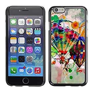 PC/Aluminum Funda Carcasa protectora para Apple Iphone 6 Design Hot Air Balloons / JUSTGO PHONE PROTECTOR