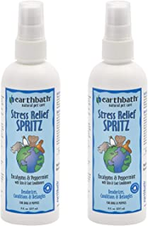 product image for eartbath 2 Pack of Stress Relief Spritz, 8 Fluid Ounces Each, Eucalyptus & Peppermint, Deodorizes and Detangles Dogs and Puppies' Coats
