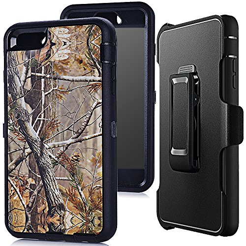 iphone 6s Case,iphone 6 Holster Cover,Auker Defender 4 layer Shockproof Natural Tree Camo Wood Full Body Protection Case with Screen Protector&360 Rotating Belt Clip for iphone 6/6s 4.7 Inch