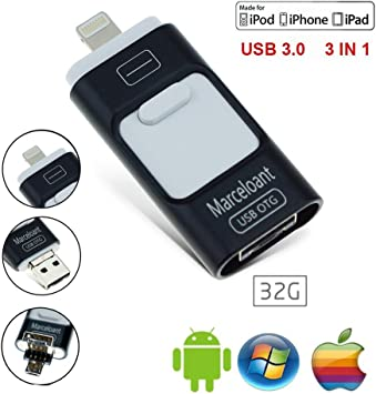 Premium OTG 32GB USB Flash Memory Drive for iPhone IPad with Lightning connector