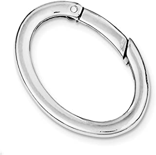 Diamond2deal 925 Argento Sterling portachiavi