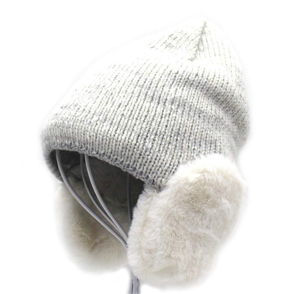 Shuo Shuo Shuo lan Unisex Herbst Winter verdickt warme Strickmütze Ohrenschützer weiche Baumwolle Cap für Junge Mädchen B07PC13QGH Caps Moderater Preis 8abd9d