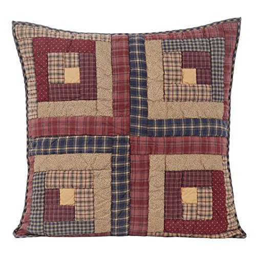 VHC Brands Rustic & Lodge Bedding - Millsboro Red Quilted Euro Sham