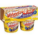 Velveeta Shells & Cheese Pasta, Queso Blanco, Single Serve Microwave Cups, 4 Count
