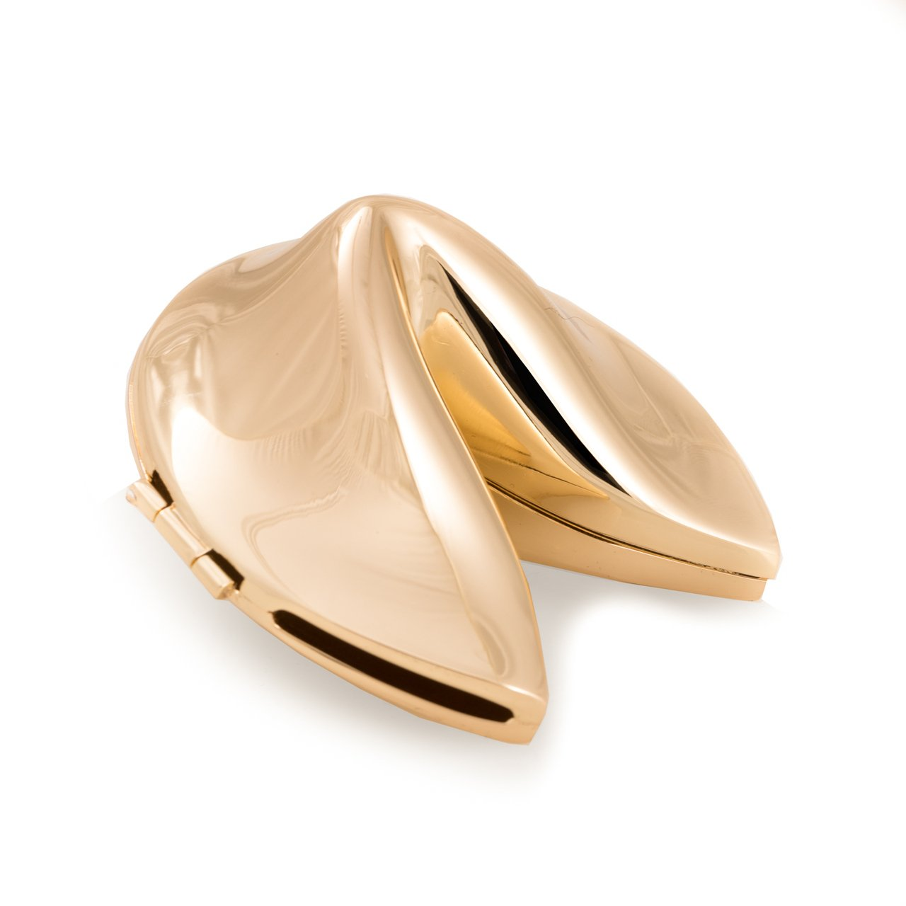 Fortune Cookie Box, Gold Plated tarnish proof, D504G Bey Berk