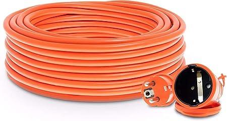 Alargador para cables de jardín (30 m, 3 x 1 mm, con toma de ...