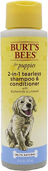 Burt's Bees Dog Shampoo for Puppies, 2 in 1 Shampoo and Conditioner