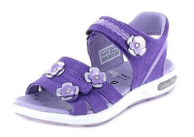 Superfit Mädchen Kinder Leder Sandale mit Klettverschluss