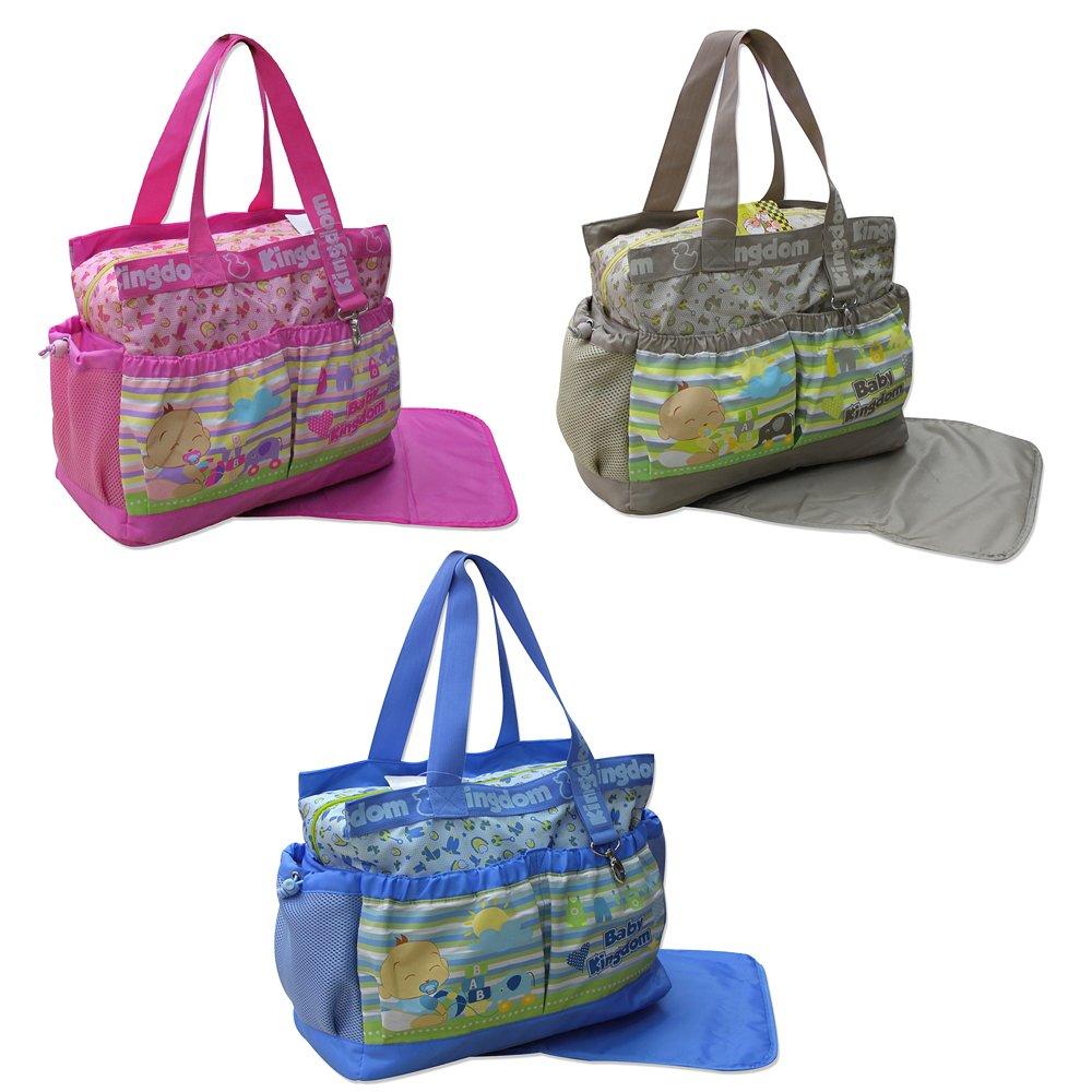 2 tlg Baby Farbe blau Wickeltasche Pflegetasche Windeltasche Babytasche Reise Farbauswahl GMMH