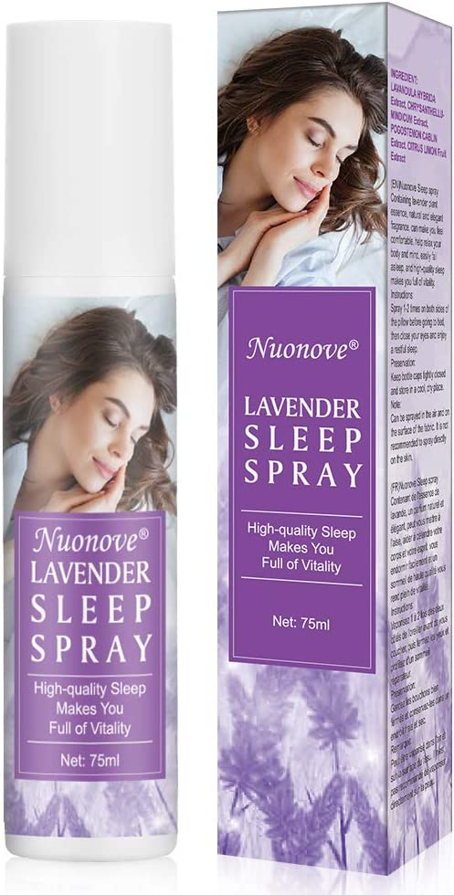 Spray De Almohada, Spray para Dormir, Almohada Spray Lavanda, Sueño Profundo Pulverizador para Almohada Sleep and Relax Spray para Dormir, 75ml
