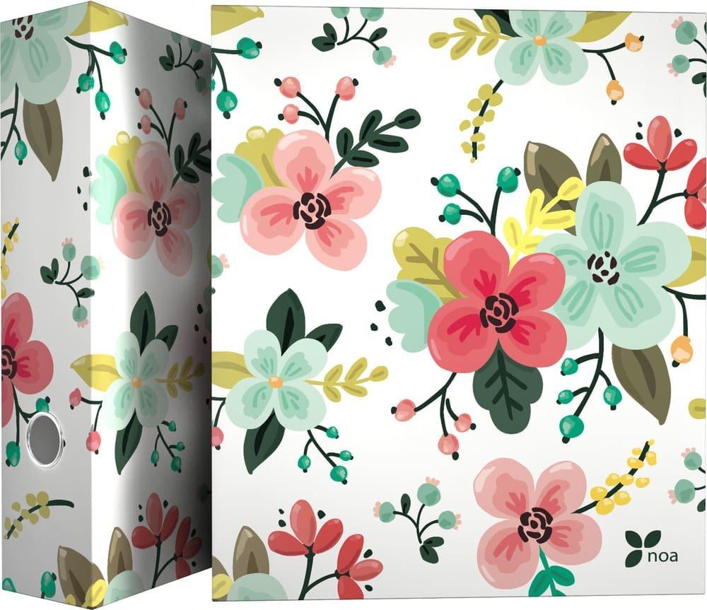 Grafoplás 88171934–Raccoglitore a 4anelli di fiori, motivo Noa, A4 Grafoplas