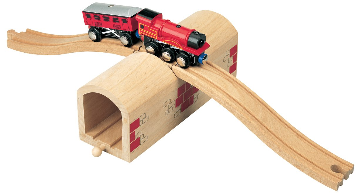 Maxim Enterprise Over and Under Tunnel Wooden Tracks - Toys 50430