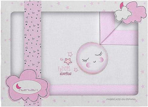 Sábanas Minicuna Felices Sueños Blanco Rosa - Sábanas Minicuna 100 ...
