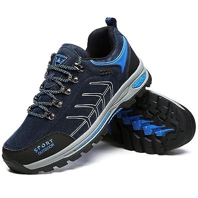 GOMNEAR Zapatillas de Montaña Hombre Zapatillas de Paseo Trekking Zapatillas de Viaje Plus Size Disponible: Amazon.es: Zapatos y complementos