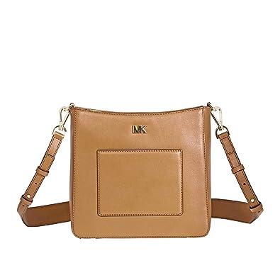 a9529773de4621 Amazon.com: Michael Kors Gloria Leather Messenger Bag- Acorn: Shoes