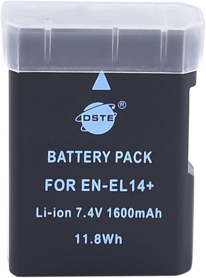 DSTE EN-EL14Rechargeable Li-Ion Battery for Nikon Coolpix P7000, COOLPIX P7100, CoolPix P7700, DF, D3100, D3200, D5100, D5200, D5300Digital Cameras