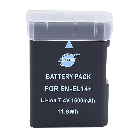 34 opinioni per DSTE- Batteria agli ioni di litio per Nikon, 7,4 V, 1.350 mAh, EN-EL14