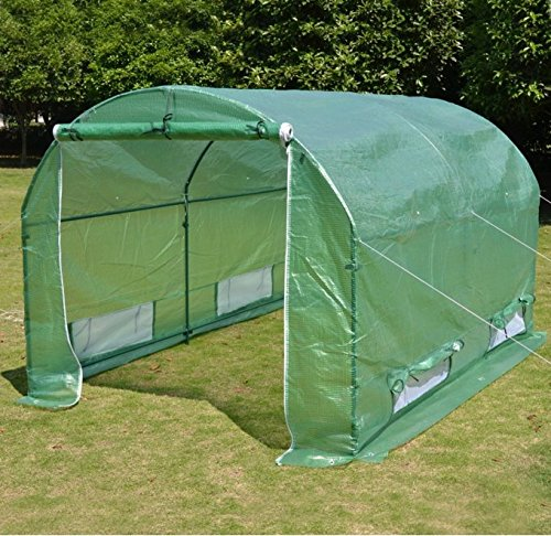 New BENEFITUSA Hot Green House 10'x7'x6' Larger Walk In Outdoor canopy gazebo Plant Gardening Greenhouse Cover (Frame Does Not Included)