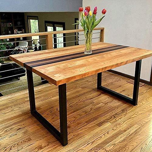 color negro patas de 12 mm de di/ámetro para mesas de centro uyoyous 4 patas de mesa patas de mesa de 71 cm mesas de comedor modernas estructura de metal para mesa de comedor 2 barras