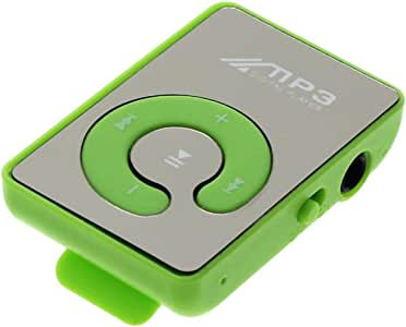 MP3 Portable Player,Mini Clip USB MP3 Player,MP3 Player for Kids Music Media Support Micro SD TF Card Fashion HiFi MP3 for Outdoor Sports(Green)